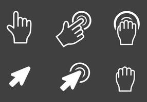 Vetor de ícones de cursores de pixel grátis