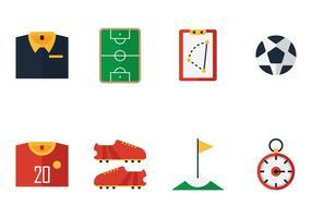 Vetores do ícone do kit de futebol