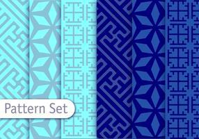 Padrões de vetores arabescos azuis