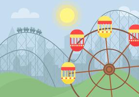 Vector de passeio de parque de diversões gratuito
