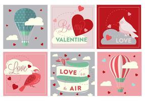 Ícones grátis do vetor de amor do dia dos namorados