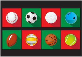 Conjunto de Ícones vetoriais de bola esportiva vetor