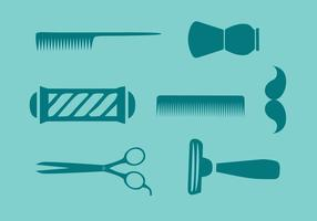 Vetor de ferramentas de barbeiro