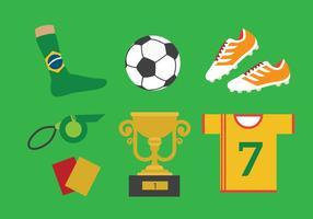 Vector do kit de futebol