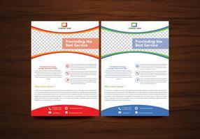 Vector folheto flyer template vector