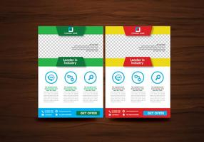 Folheto de vetores flyer design layout template vector