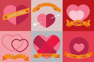 Ícones de coração de vetores grátis