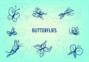 Vetor de ícone de borboleta grátis