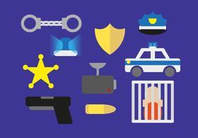 Elementos da ilustração da polícia vetor