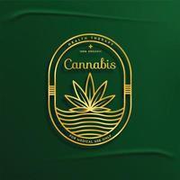 crachá delineado de cannabis