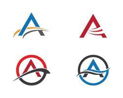 um conjunto de logotipo de carta vetor