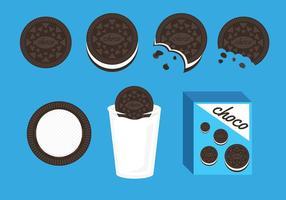 Vetor de ilustração de cookies oreo