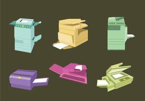Vector da máquina fotocopiadora