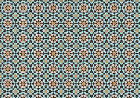 Padrão mosaico marroquino Bacground vetor