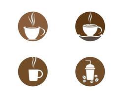 conjunto de logotipo de xícara de café vetor