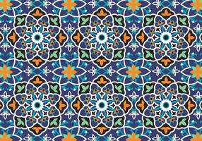 Fundo de padrão de decoração mosaica vetor