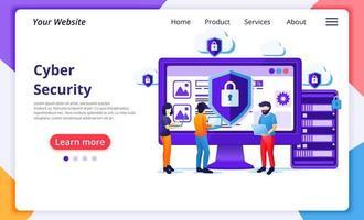 estilo simples do conceito de segurança cibernética