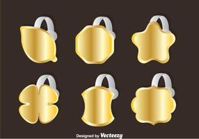Conjuntos de vetores de ouro Wobbler