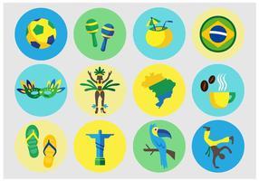 Ícones vetoriais brasileiros vetor