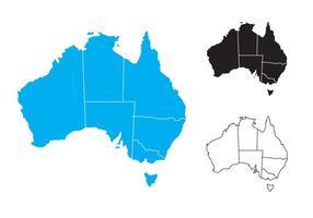 Mapa de estado livre da Austrália vetor
