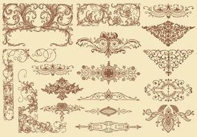 Florescer vetores de elemento de design