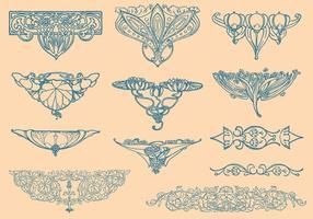 Elementos do vetor Art Nouveau