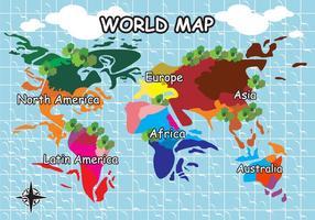 Vector de Ilustração do Mapa Mundial