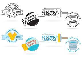 Vetores de logotipo do serviço de limpeza