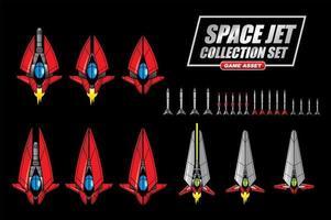 conjunto de coleta de jato espacial vetor