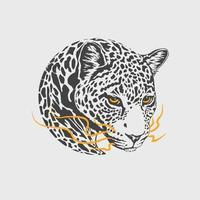 mascote de calor de leopardo vetor