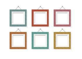 Frames variados de vetores de cores