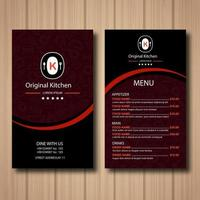 menu de restaurante vermelho vetor