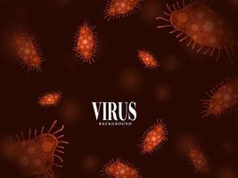 fundo de gripe de infecção de vírus moderno vetor