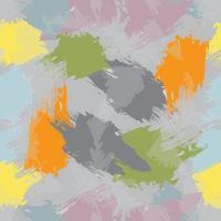 padrão de pincelada colorido vetor