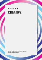 modelo de design de cartaz holográfico para documentos de negócios ou empresa vetor