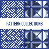coleção de padrão de ilusão de caixa quadrada sem costura