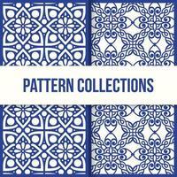 conjunto de dois padrões em design plano