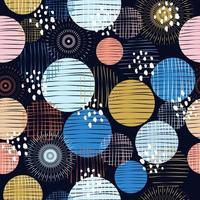 padrão abstrato círculos coloridos vetor