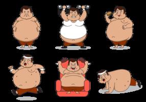 Vetor de personagem de gordura livre