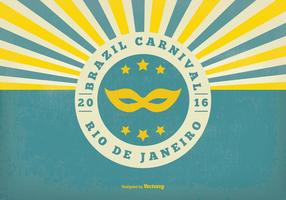 Ilustração retro do carnaval do Brasil vetor