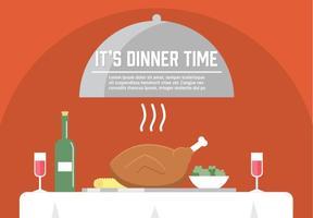 Ilustração do jantar de vetores grátis