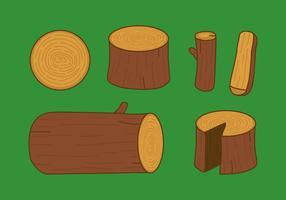 Registros de madeira de vetores