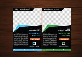 Vector flyer design layout template vector