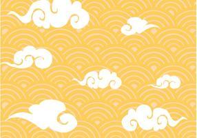 Vector de padrões de nuvens chinesas grátis