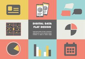 Fundo do vetor de dados digitais