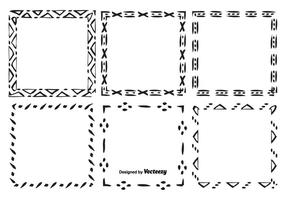 Conjunto de moldura de vetor desenhado à mão