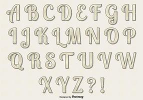 Conjunto retro de alfabetos vetoriais vetor