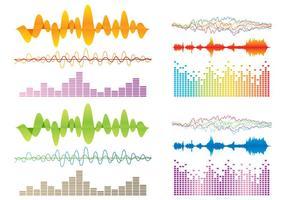 Vetores de barras de som coloridas