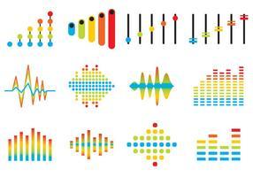 Vetores de ícones de barras de som