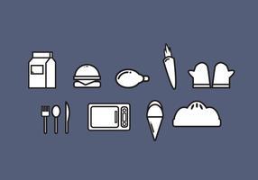 Vetores de alimentos de ícone grátis